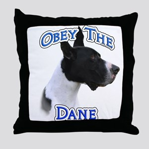 Great Dane Obey Throw Pillow