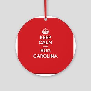 Hug Carolina Ornament (Round)