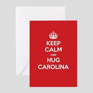 Hug Carolina Greeting Cards