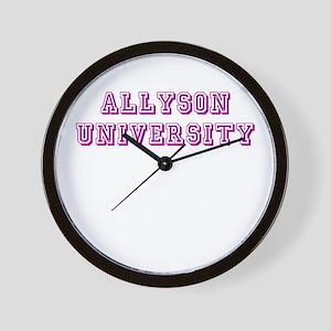 Allyson University Wall Clock