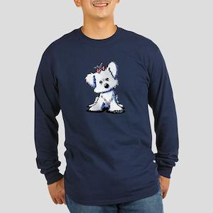 Girlie Maltese Long Sleeve Dark T-Shirt