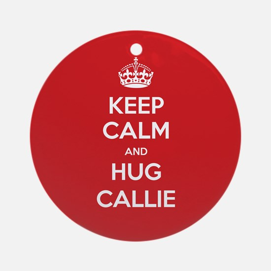 Hug Callie Ornament (Round)