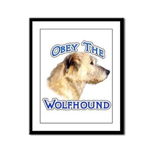 Wolfhound Obey Framed Panel Print