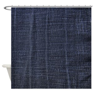 Blue Denim Shower Curtains