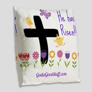 Risen Burlap Throw Pillow