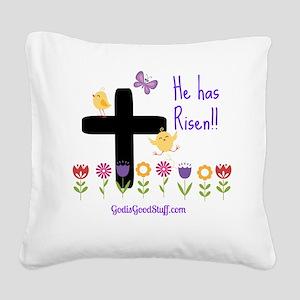 Risen Square Canvas Pillow