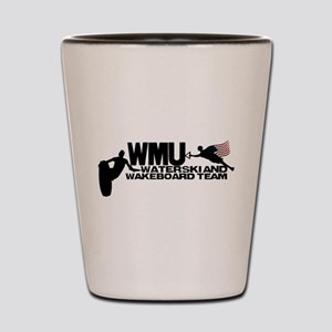 WMU Waterski Red White Blue Shot Glass
