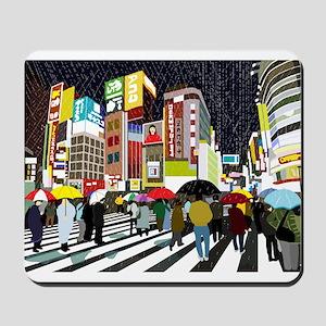 UMBRELLAS IN TOKYO RAIN Mousepad