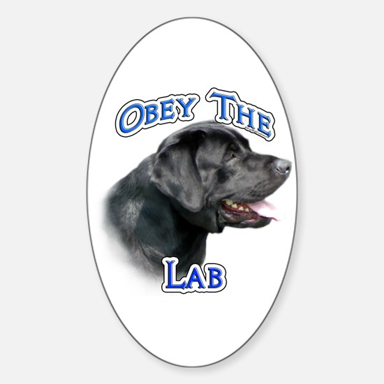 Lab Obey Oval Decal