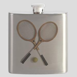 tennis rackets , sports, ballgames,  Flask