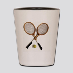 tennis rackets , sports, ballgames,  Shot Glass