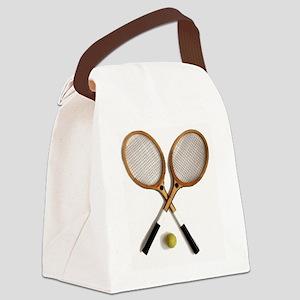 tennis rackets , sports, ballgame Canvas Lunch Bag