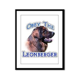 Leonberger Obey Framed Panel Print