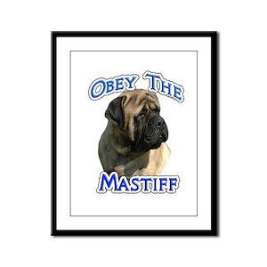 Mastiff (fawn) Obey Framed Panel Print