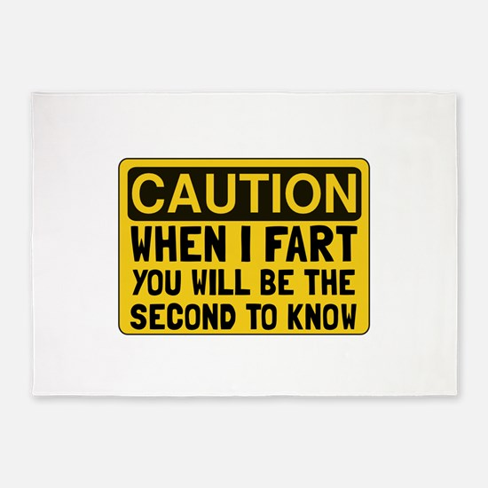 Fart Second 5'x7'Area Rug