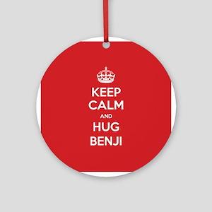 Hug Benji Ornament (Round)