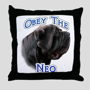 Neo Obey Throw Pillow
