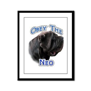 Neo Obey Framed Panel Print