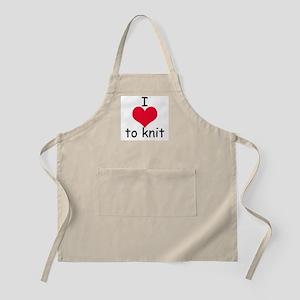 I love to knit BBQ Apron
