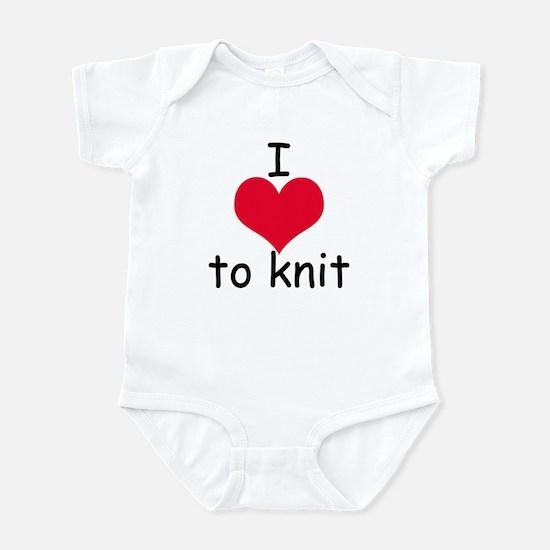 I love to knit Infant Bodysuit