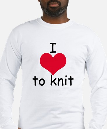 I love to knit Long Sleeve T-Shirt