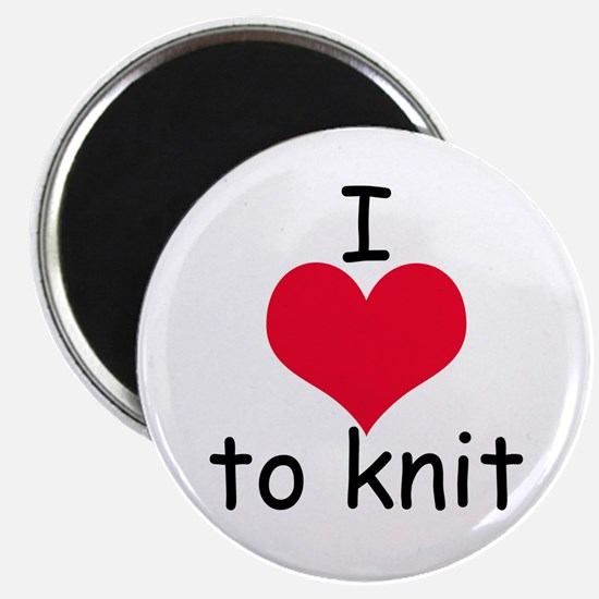 I love to knit Magnet