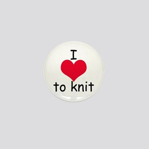 I love to knit Mini Button