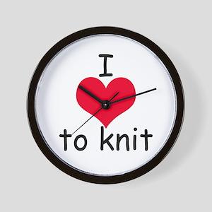 I love to knit Wall Clock