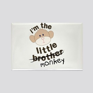 little brother monkey crossout Rectangle Magnet