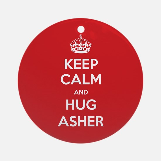 Hug Asher Ornament (Round)