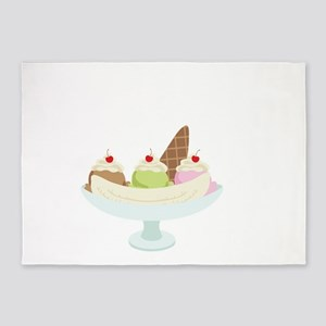 Ice Cream Sundae 5'x7'Area Rug