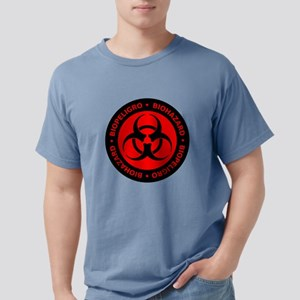 Red English-Spanish Biohazard T-Shirt