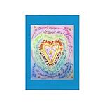 Rainbow Heart Cancer 5'x7'Area Rug