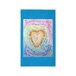 Rainbow Heart Cancer 3'x5' Area Rug