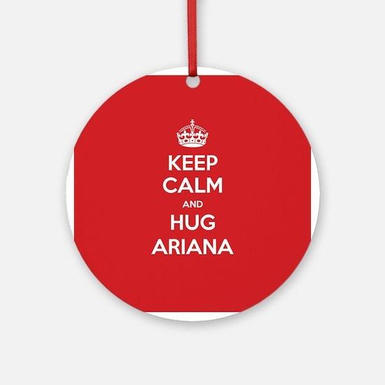 Hug Ariana Ornament (Round)