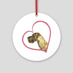 NBrdl Heartline Ornament (Round)