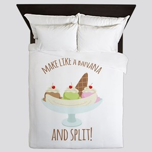 Make Like A Banana And Split! Queen Duvet