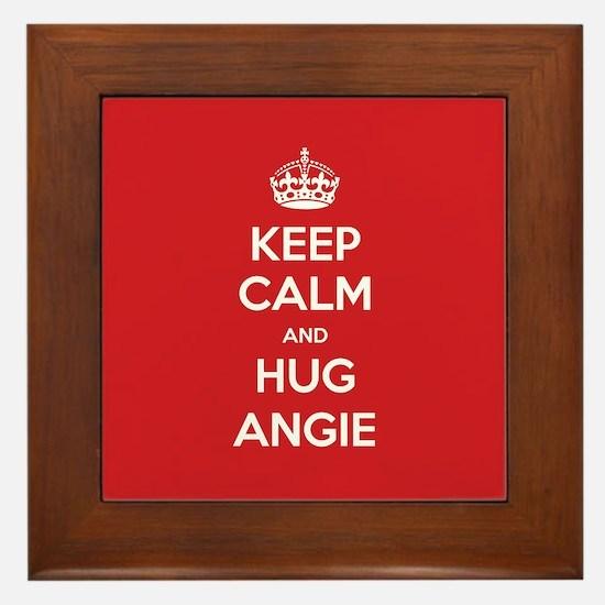 Hug Angie Framed Tile