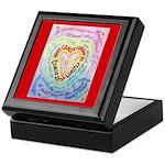 Rainbow Heart Cancer Keepsake Box