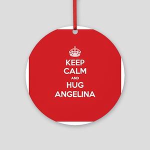 Hug Angelina Ornament (Round)