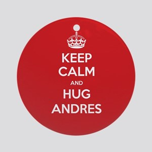 Hug Andres Ornament (Round)