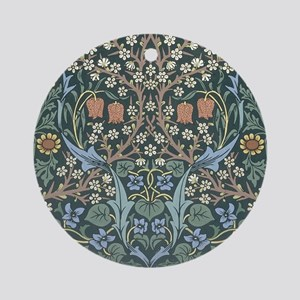 William Morris Blackthorn Round Ornament