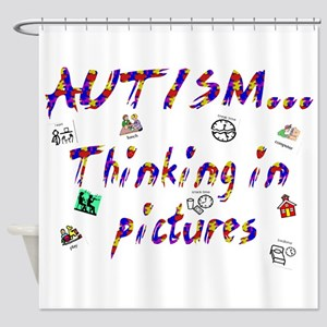 Thinking In Pictures Shower Curtain