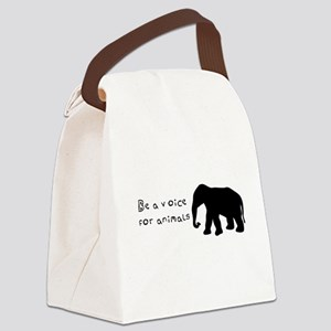 Be A Voice for Animals Canvas Lunch Bag