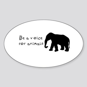 Be A Voice for Animals Sticker