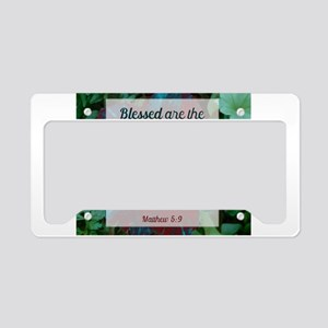 Blessed are the Peacemakers License Plate Holder