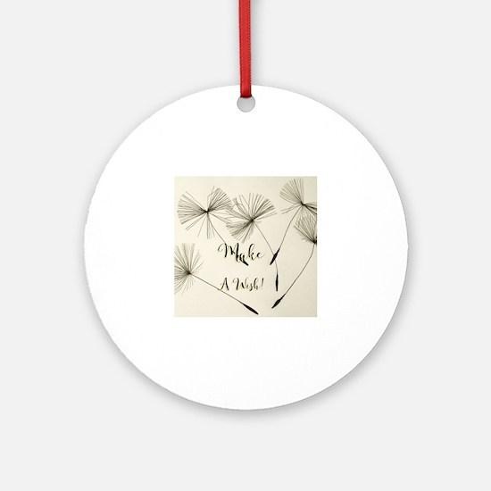 Cute Wish Round Ornament