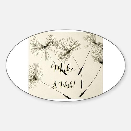 Unique Wish Sticker (Oval)