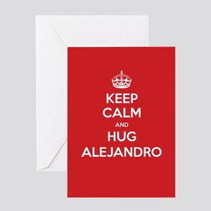 Hug Alejandro Greeting Cards