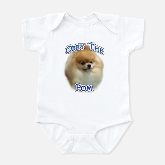 Pomeranian Obey Infant Bodysuit